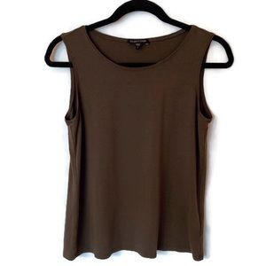 EILEEN FISHER Size Small Brown Tank Top